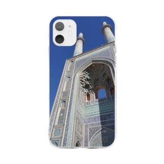 ヤズドのモスク Soft clear smartphone cases