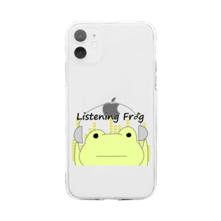 Listening Frog Soft clear smartphone cases