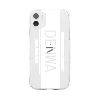 SPARERAID / DENWAスマホケース(ホワイト) Soft clear smartphone cases