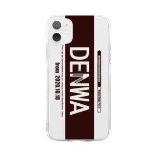 SPARERAID / DENWAスマホケース(ブラウン) Soft clear smartphone cases