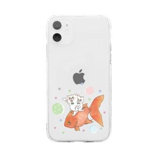 いっしょに泳ごう Soft clear smartphone cases
