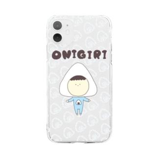 まるいぼうやのおにぎり Soft clear smartphone cases