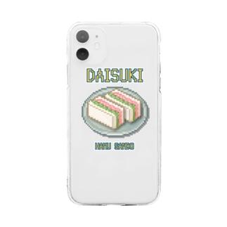 ハムサンド(ドット絵) Soft clear smartphone cases