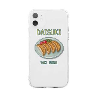ギョウザ(ドット絵) Soft clear smartphone cases