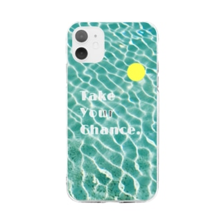 TYC 水面キラキラ 透過 Soft clear smartphone cases