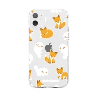 さらまんだーとキツネ Soft clear smartphone cases