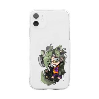 茶村ちゃんハロウィン仕様 Soft clear smartphone cases
