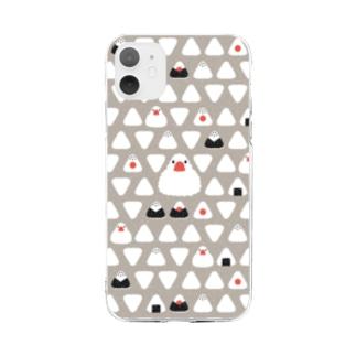 おにぎりと文鳥 Soft clear smartphone cases