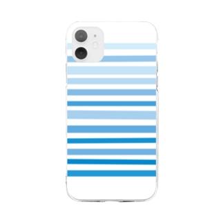 青 Soft clear smartphone cases