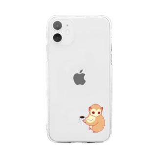 スローロリス Soft clear smartphone cases