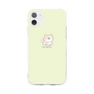 「こんにちは、いぬです」柴犬さん Soft clear smartphone cases