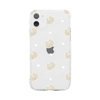 ホワイトテイストなおしばさま Soft clear smartphone cases