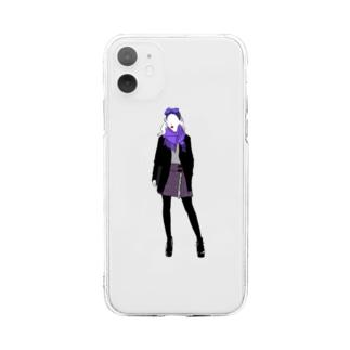 ブルーベリー Soft clear smartphone cases