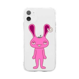ピンクラビット Soft clear smartphone cases
