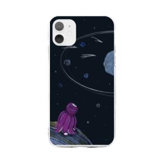 たこ Soft clear smartphone cases
