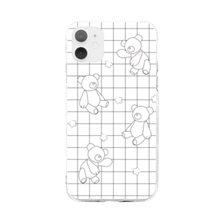 しろくろくまちゃん🧸 Soft clear smartphone cases