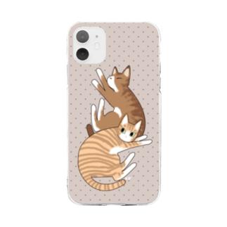 寝子 Soft clear smartphone cases