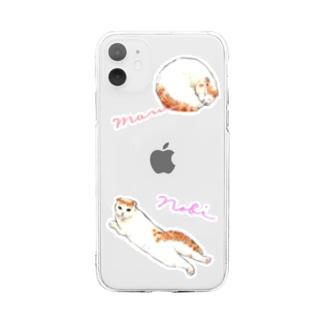 のびまるCats Soft clear smartphone cases