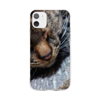 お眠な、そらちゃん Soft clear smartphone cases