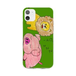 らいおん Soft clear smartphone cases