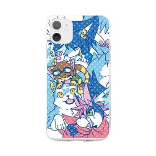 フルドがいっぱい・ケースB Soft Clear Smartphone Case