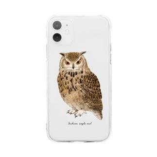 ベンガルワシミミズク カラー Soft Clear Smartphone Case