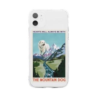 OOKIIINUのTHE MOUNTAIN DOG Soft clear smartphone cases