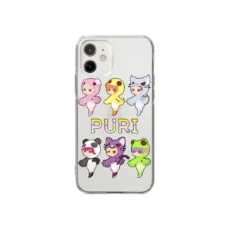 ぷり☆全員集合 Soft clear smartphone cases