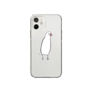 ミーアキャット文鳥 Soft clear smartphone cases