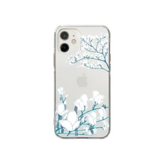 白木蓮 Soft clear smartphone cases