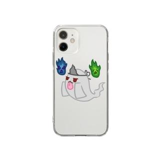 ゾワゾワゆーれい Soft clear smartphone cases