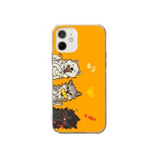 マヨネーズマスタードケチャップなオオカミ Soft clear smartphone cases