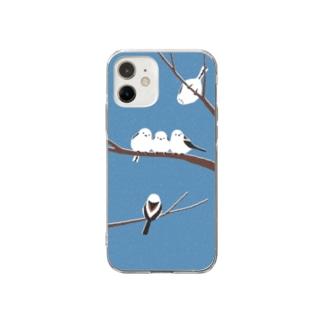 シマエナガ Soft clear smartphone cases