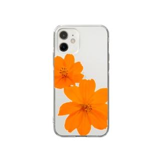 キバナコスモス Soft clear smartphone cases