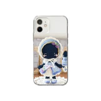 ブルーベリーレアチーズケーキの猫ちゃん Soft Clear Smartphone Case