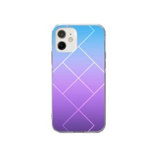 グラデーション.春 Soft clear smartphone cases