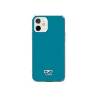 和色コレクションVer-2:納戸色(なんどいろ) Soft clear smartphone cases