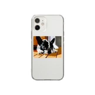 ブルドッグ Soft clear smartphone cases