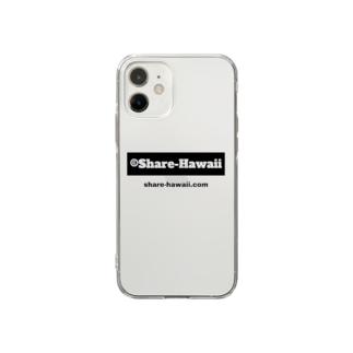 シェアハワイ ビックロゴ Soft clear smartphone cases