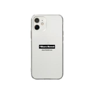 シェアハワイ スモールロゴ Soft clear smartphone cases