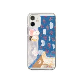 ねこの付け襟やさん Soft clear smartphone cases