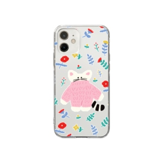 flower cat Soft clear smartphone cases