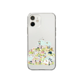 おにぎり祭り2021ver.1 Soft clear smartphone cases
