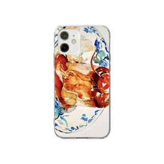 喫茶店のプリン Soft clear smartphone cases