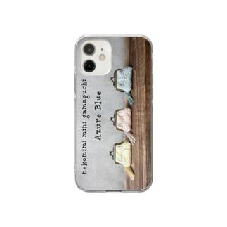 がま口ポーチならべ Soft clear smartphone cases
