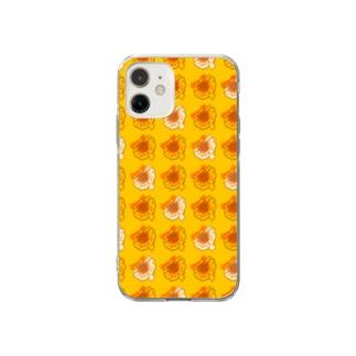 ハム餃子大盛り Soft clear smartphone cases
