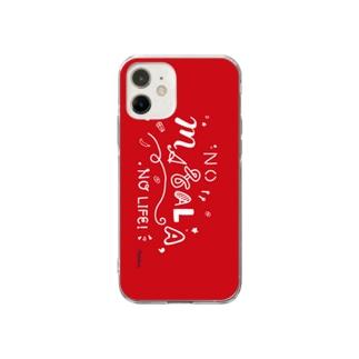 NO MASALA, NO LIFE. スマホケース 赤 Soft clear smartphone cases