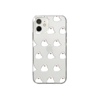 もっちり文鳥 Soft clear smartphone cases
