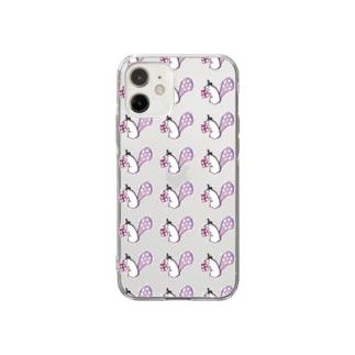 りすパーティー Soft clear smartphone cases