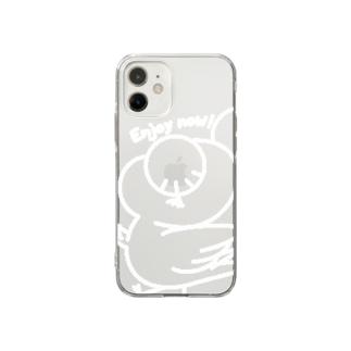 スマホケースそんよん(for iPhone12 mini) Soft clear smartphone cases
